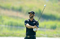 Dustin Johnson (USA) during the first round of  The Northern Trust, Liberty National Golf Club, Jersey City, New Jersey, USA. 08/08/2019.<br /> Picture Michael Cohen / Golffile.ie<br /> <br /> All photo usage must carry mandatory copyright credit (© Golffile | Michael Cohen)