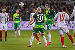 10.02.2019, Weser Stadion, Bremen, GER, 1.FBL, Werder Bremen vs FC Augsburg, <br /> <br /> DFL REGULATIONS PROHIBIT ANY USE OF PHOTOGRAPHS AS IMAGE SEQUENCES AND/OR QUASI-VIDEO.<br /> <br />  im Bild<br /> <br /> <br /> Maximilian Eggestein (Werder Bremen #35)<br /> Davy Klaassen (Werder Bremen #30)<br /> Jan Moravek (FC Augsburg #14)<br /> Foto © nordphoto / Kokenge