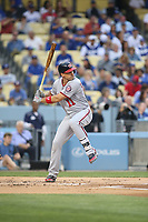 06/06/17 Los Angeles, CA: Washington Nationals first baseman Ryan Zimmerman #11 during an MLB game between the Los Angeles Dodgers and the Washington Nationals played at Dodger Stadium.