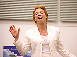 Actress Carolee Carmello performing at the rehearsal presentation for 'Scandalous The Musical' at the New 42nd Street Studios on Monday, Sept. 24, 2012 in New York.