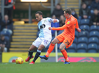Blackburn Rovers Elliott Bennett in action with Ipswich Town's Freddie Sears<br /> <br /> Photographer Mick Walker/CameraSport<br /> <br /> The EFL Sky Bet Championship - Blackburn Rovers v Ipswich Town - Saturday 19 January 2019 - Ewood Park - Blackburn<br /> <br /> World Copyright &copy; 2019 CameraSport. All rights reserved. 43 Linden Ave. Countesthorpe. Leicester. England. LE8 5PG - Tel: +44 (0) 116 277 4147 - admin@camerasport.com - www.camerasport.com