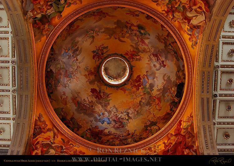 Cupola High Altar front view Basilica di San Lorenzo Florence