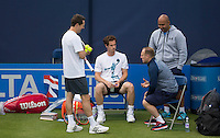 ANDY MURRAY (GBR) PRACTICING AT QUEENS<br /> <br /> TENNIS - AEGON CHAMPIONSHIPS -  2015 -  QUEENS CLUB - LONDON -  ATP 500- 2015  - ENGLAND - UNITED KINGDOM<br /> <br /> &copy; AMN IMAGES