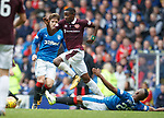 Arnaud Djoum gets away from Alfredo Morelos