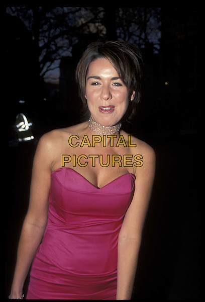CLAIRE SWEENEY.04 April 2001.Ref: 10779.strapless, half length, half-length.*RAW SCAN- photo will be adjusted for publication*.www.capitalpictures.com.sales@capitalpictures.com.©Capital Pictures