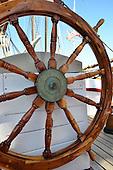 Stock photos of a schooner Stock photo of a Sailboat Navigation Wheel Helm
