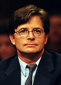 Actor Michael J. Fox testifies before the United States Senate Appropriations Subcommittee on Labor, Health and Human Services, and Education on September 28, 1999.   Fox, who suffers from Parkinson's Disease, testified on the need for funding further research and treatment of the disease..Credit: Ron Sachs / CNP