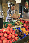 Israel, the market of Old Acco, a juice stand