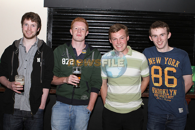 Declan Usher, Sean Carroll, Eamonn McQuillan and Rob Carberry in McPhails...Photo NEWSFILE/Jenny Matthews.