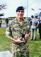 "Pictured: Undated family handout picture of Lee Foley.<br /> Re: A grieving couple held three funerals for their soldier son after his body parts were found in the back of a hospital fridge.<br /> Paul and Sian Foley had Lee, 26, cremated when he was tragically killed in a road accident while home on leave.<br /> His brain, spinal cord, and spleen were removed during a post mortem examination and returned to the grieving couple who held another service.  <br /> But 18 months later they were told more of Lee's body samples had been found in a fridge at the University Hospital of Wales in Cardiff.<br /> Furious Paul, 56, said: ""The undertaker rang me to ask what did we want doing with Lee's remains.<br /> ""I said we had already buried him but they told me they had found more remains in the back of a fridge.<br /> ""We recovered them and had him cremated."