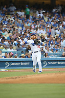 Los Angeles, CA 07/06/17: Los Angeles Dodgers third baseman Justin Turner #10 during an MLB game between the Los Angeles Dodgers and the Arizona Diamondbacks played at Dodger Stadium.