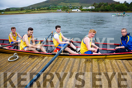 The Callinafercy Minor Boys crew who took gold at the Over the Water regatta on Sunday pictured l-r; Killian Kerins, Paraic O'Sullivan, Cian O'Sullivan, Aaron Houlihan and Kieran O'Sullivan(cox).