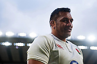 Mako Vunipola of England leaves the field after the match. RBS Six Nations match between England and Italy on February 26, 2017 at Twickenham Stadium in London, England. Photo by: Patrick Khachfe / Onside Images
