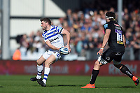 Rhys Priestland of Bath Rugby looks to pass the ball. Gallagher Premiership match, between Exeter Chiefs and Bath Rugby on March 24, 2019 at Sandy Park in Exeter, England. Photo by: Patrick Khachfe / Onside Images