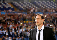 Calcio, Champions League, Gruppo E: Roma vs CSKA Mosca. Roma, stadio Olimpico, 17 settembre 2014.<br /> Roma coach Rudi Garcia, of France, arrives for the Group E Champions League football match between AS Roma and CSKA Moskva at Rome's Olympic stadium, 17 September 2014.<br /> UPDATE IMAGES PRESS/Riccardo De Luca