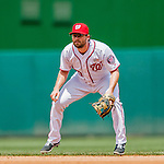 14 May 2016: Washington Nationals second baseman Daniel Murphy in action during the first game of a double-header against the Miami Marlins at Nationals Park in Washington, DC. The Nationals defeated the Marlins 6-4 in the afternoon matchup.  Mandatory Credit: Ed Wolfstein Photo *** RAW (NEF) Image File Available ***