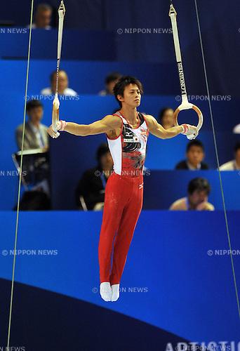Kenya Kobayashi (JPN), OCTOBER 12, 2011 - Artistic Gymnastics : 2011 Artistic Gymnastics World Championships, Men's team final at Tokyo Metropolitan Gymnasium, Tokyo, Japan. (Photo by Atsushi Tomura/AFLO SPORT) [1035]