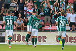 28.08.2019, Stadion Lohmühle, Luebeck, GER,  VFB Lübeck/Luebeck vs VfL Wolfsburg IIi<br /> <br /> DFB REGULATIONS PROHIBIT ANY USE OF PHOTOGRAPHS AS IMAGE SEQUENCES AND/OR QUASI-VIDEO.<br /> <br /> im Bild / picture shows<br /> Torjubel/Jubel. Torschütze/Torschuetze Ahmet Arslan  (VfB Luebeck) jubelt ueber das Tor zum 1:0.<br /> <br /> Foto © nordphoto / Tauchnitz