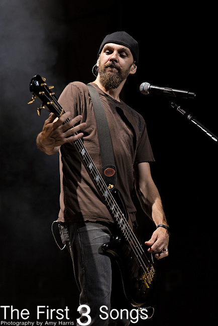 Robbie Merrill of Godsmack performs during the 2011 Rockstar Energy Drink Mayhem Festival on July 20, 2011 at Riverbend Music Center in Cincinnati, Ohio.