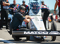 Sep 16, 2018; Mohnton, PA, USA; Crew members for NHRA top fuel driver Antron Brown during the Dodge Nationals at Maple Grove Raceway. Mandatory Credit: Mark J. Rebilas-USA TODAY Sports