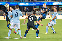 San Jose, CA - Saturday September 15, 2018: Magnus Eriksson during a Major League Soccer (MLS) match between the San Jose Earthquakes and Sporting Kansas City at Avaya Stadium.