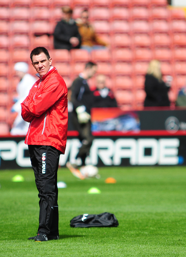 Sheffield United's Caretaker Manager Chris Morgan  .. - (Photo by Chris Vaughan/CameraSport) - ..Football - npower Football League Division One - Sheffield United v Preston North End - Saturday 27th April 2013 - Bramall Lane - Sheffield..© CameraSport - 43 Linden Ave. Countesthorpe. Leicester. England. LE8 5PG - Tel: +44 (0) 116 277 4147 - admin@camerasport.com - www.camerasport.com