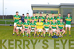 MCGRATH CUP: The Kerry team who played in the McGrath cup at the John Mitchels on Sunday front l-r: Mikey Geaney, Mark Griffin, Shane Enright, Brian Kelly, Donnchadh Walsh (captain), Jonathan Lyne and Brian Maguire. Back l-r: Anthony Maher, Alan Fitzgerald, Stephen O'Brien, Jack Sherwood, Paul Murphy, Shane O'Callaghan, Bryan Sheehan and David Moran.
