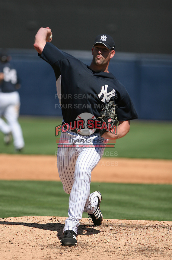 Kyle Farnsworth of the New York Yankees vs the Pittsburgh Pirates March 18th, 2007 at Legends Field in Tampa, FL during Spring Training action.  Photo By Mike Janes/Four Seam Images