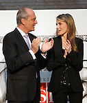 Princess Letizia of Spain attends the 'El Barco de Vapor' literature awards in the presence of the Chairman of the Editorial SM Javier Cortes.April 9, 2013.(ALTERPHOTOS/Acero)