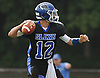 Kyle Tiernan #12, Glenn quarterback, throws a pass during the second quarter of a Suffolk County Division IV varsity football game against Mount Sinai at Glenn High School on Saturday, Sept. 10, 2016.