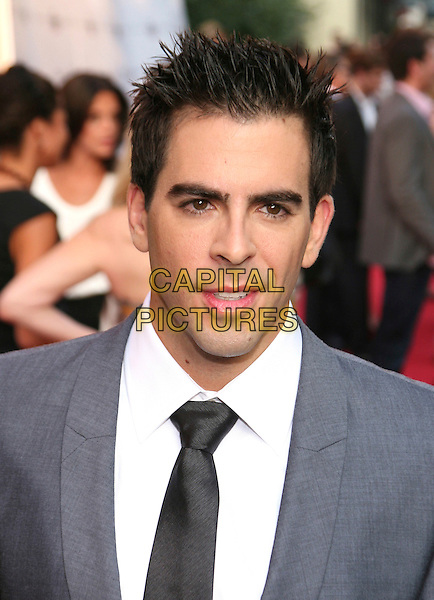 "ELI ROTH .New York Screening of ""Inglourious Basterds"" held at the SVA Theatre, New York, NY, USA, .August 17th 2009..portrait headshot black tie grey gray suit .CAP/LNC/TOM.©LNC/Capital Pictures."