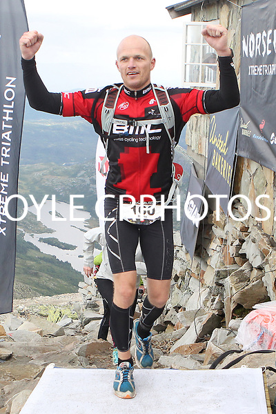 Race number 160 - Rune Hardersen - Sunday Norseman Xtreme Tri 2012 - Norway - photo by chris royle / boxingheaven@gmail.com
