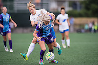 Allston, MA - Sunday July 31, 2016: Natasha Dowie, Kaylyn Kyle during a regular season National Women's Soccer League (NWSL) match between the Boston Breakers and the Orlando Pride at Jordan Field.