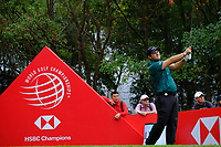 Patrick Reed (USA) on the 3rd tee  during the 1st round at the WGC HSBC Champions 2018, Sheshan Golf CLub, Shanghai, China. 25/10/2018.<br /> Picture Phil Inglis / Golffile.ie<br /> <br /> All photo usage must carry mandatory copyright credit (&copy; Golffile | Phil Inglis)