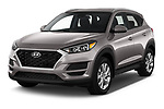 2019 Hyundai Tucson Value 5 Door SUV angular front stock photos of front three quarter view