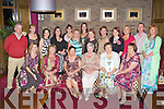 Eileen Reidy Tralee who celebrated her retirement from the Muckross Ward in Kerry General Hospital in the Brehon Hotel Killarney with her colleagues on Friday night front row l-r: Tracey Guerin, Sheila O'Leary, Eileen Reidy, Maureen Young, Ann Marie Long, Florence Kennedy. Back row: Donal O'Mahony, Elaine Moloney, Therese Ahern, Maria Begley, Geraldine Murphy, Sadie Evans, Gina Keating, Norma Myers, Helen Crowley, Sinead Kennelly, Mary Cotter, Derry Horan and Joan Hickey .