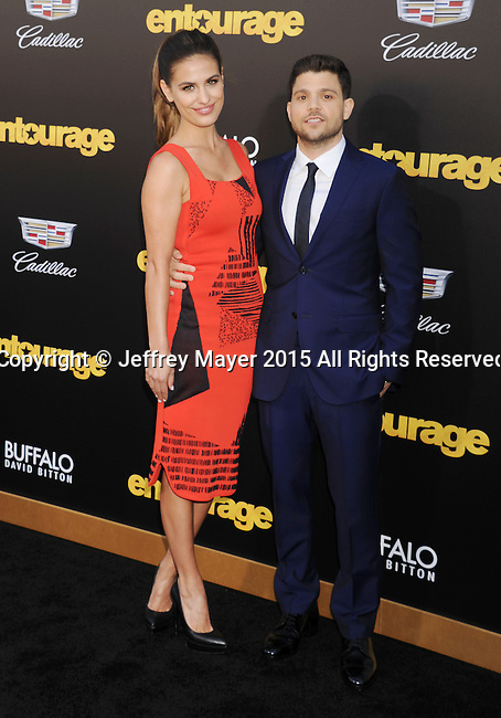 WESTWOOD, CA - JUNE 01: Actor Jerry Ferrara (R) and actress Breanne Racano arrive at the 'Entourage' - Los Angeles Premiere at Regency Village Theatre on June 1, 2015 in Westwood, California.