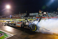 May 15, 2015; Commerce, GA, USA; NHRA top fuel driver Leah Pritchett during qualifying for the Southern Nationals at Atlanta Dragway. Mandatory Credit: Mark J. Rebilas-USA TODAY Sports