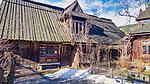 Stare góralskie domy przy ulicy Kościeliskiej w Zakopanem.