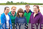 Amy Houlihan, Leanne Teahan, Emer hurley, Conor McKenna and Mickeala Foley at the Callinafercy rowing club funday on Saturday in their boathouse ..