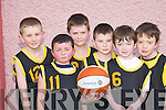 BLITZ: Kieran Griffin, Kevin Moriarty, Oisin Ford, Jonathon ORiordan, John Brosnan and Jack Butler who competed in the Basketball Blitz in Currow Community Centre last Saturday..