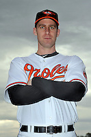 Feb 27, 2010; Tampa, FL, USA; Baltimore Orioles  pitcher Mark Hendrickson (27) during  photoday at Ed Smith Stadium. Mandatory Credit: Tomasso De Rosa/ Four Seam Images