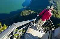 On top of Monte San Salvatore (912 m), Ticino, Switzerland