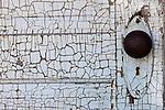 Detail of an old door, Shaniko, Oregon, USA