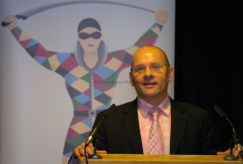 Photo: Richard Lane..Rugby League Engage Super League Launch. 07/02/2006. .NEC Harlequins Chief Executive, Mark Evans.