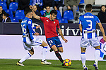 Club Deportivo Leganes's Unai Bustinza Club Atletico Osasuna's Juan Fuentes during the match of La Liga between Club Deportivo Leganes  and Club Atletico Osasuna at Butarque Stadium  in Madrid , Spain. November 21, 2016. (ALTERPHOTOS/Rodrigo Jimenez)
