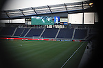 08 June 2011: A through the exterior gate behind the North end Member's Stand. A tour of the interior of LIVESTRONG Sporting Park one day before Sporting Kansas City played the Chicago Fire in the inaugural game at LIVESTRONG Sporting Park in Kansas City, Kansas in a 2011 regular season Major League Soccer game.