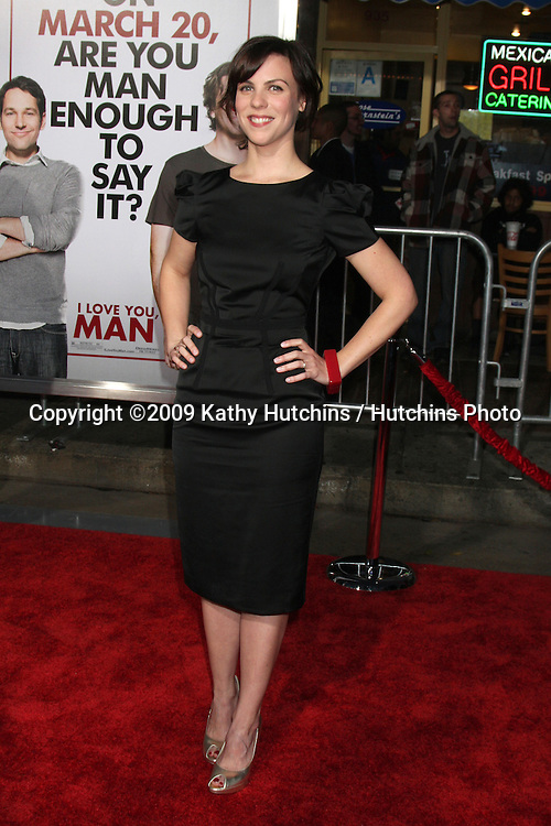 """Sarah Burns arriving at the """"I Love You, Man"""" Premiere at the Mann Village Theater in Westwood, CA on  March 17, 2009 .©2009 Kathy Hutchins / Hutchins Photo...                ."""