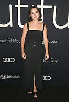 BEVERLY HILLS, CA - OCTOBER 8: Zelda Williams at the Los Angeles Premiere of Beautiful Boy at the Samuel Goldwyn Theater in Beverly Hills, California on October 8, 2018. <br /> CAP/MPIFS<br /> ©MPIFS/Capital Pictures