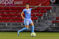 Bridgeview, IL - Saturday June 18, 2016: Samantha Johnson during a regular season National Women's Soccer League (NWSL) match between the Chicago Red Stars and the Boston Breakers at Toyota Park.